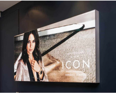 Wall Mounted Tension Fabric Lightbox